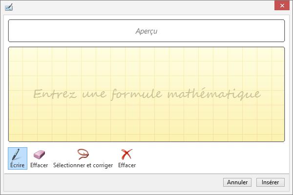 Image d'aperçu des équations manuscrites