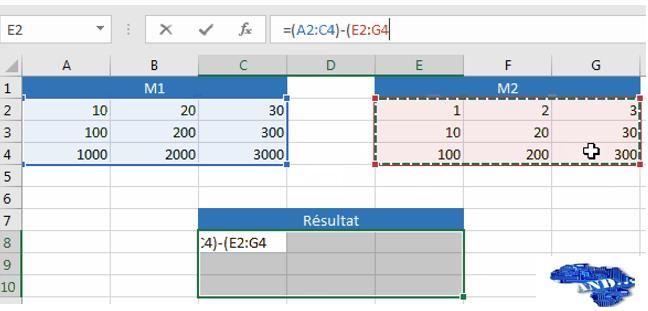 Formule de la Soustraction Matricielle