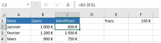 Soustraction des cellules du même nombre d'une colonne de chiffre 2