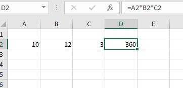 Multilier plusieurs cellules dans Excel